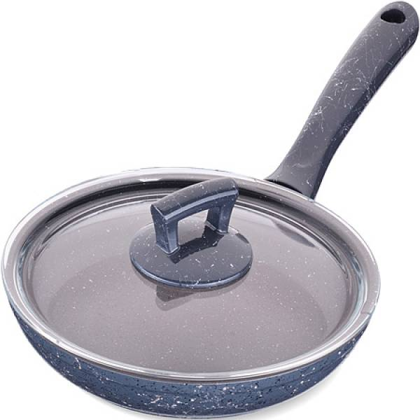 80225 Сковородка 20см алюм/мрам с крышкой Турция MAYER&BOCH
