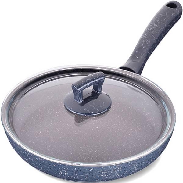 80227 Сковородка 24см алюм/мрам с крышкой Турция MAYER&BOCH