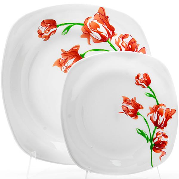 23690 Набор тарелок 7пр стелко-керамика LR (х6)