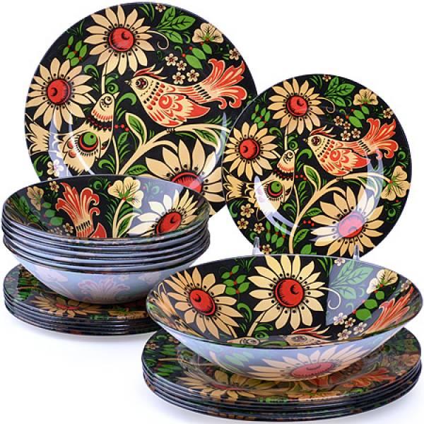 27710 Набор стеклянной посуды 19 пр LORAINE
