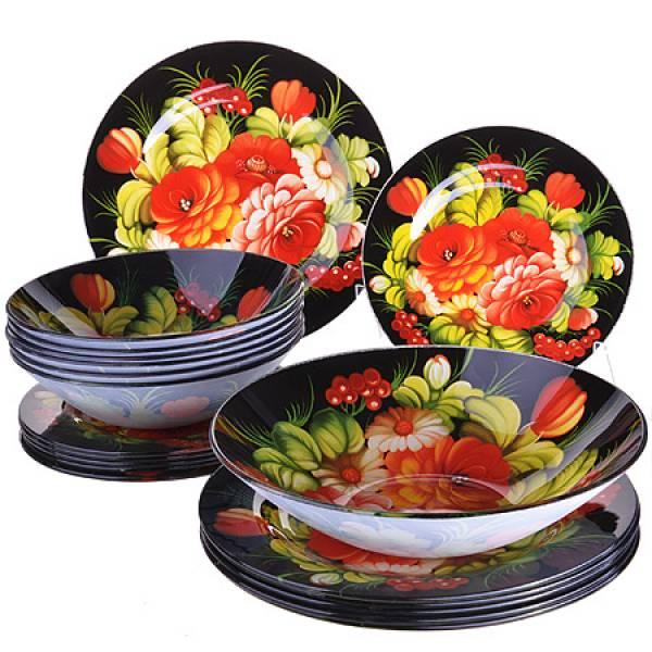 28332 Набор стеклянной посуды 19 пр LORAINE