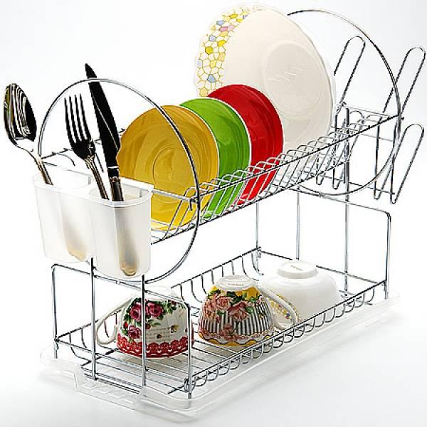 23216 Сушилка для посуды 43х9см ХРОМ МВ (х6)