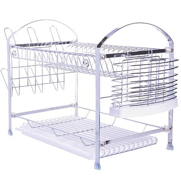 4003 Подставка/сушка д/посуды 2х ярус.