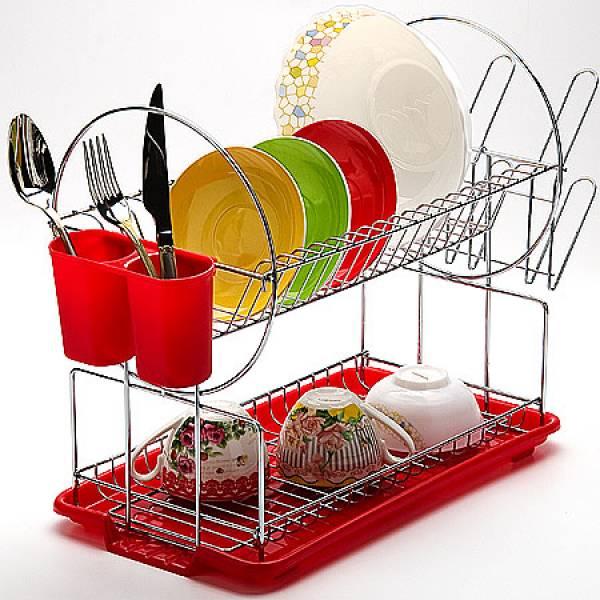 23218 Сушилка для посуды 43х9см ХРОМ MAYER&BOCH