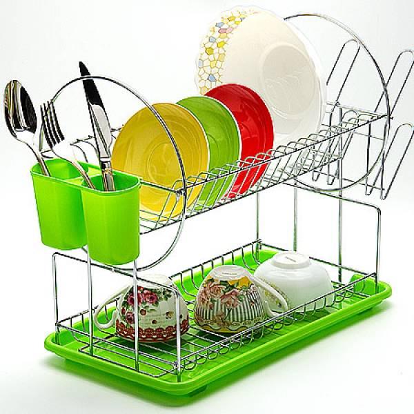23217 Сушилка для посуды 43х9см ХРОМ МВ (х6)