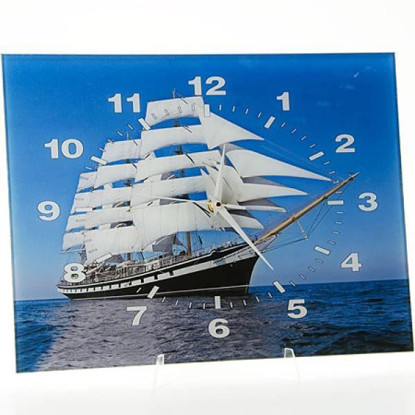 40514 Часы 30х40 стекло Парусник