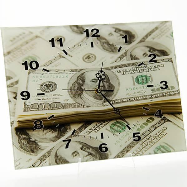40509 Часы 30х40 стекло Доллар