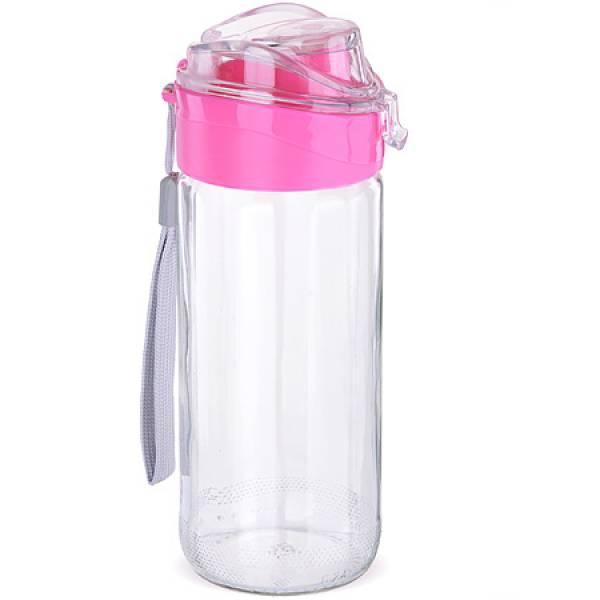 80544 Бутылка для напитков стекло РОЗОВАЯ 0,5 л MAYER&BOCH