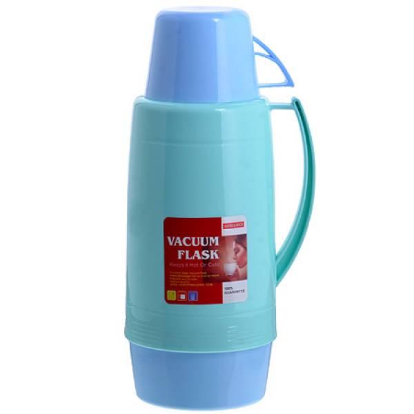 29955-3 Термос 1,8 литра стек/колба Голубой МВ