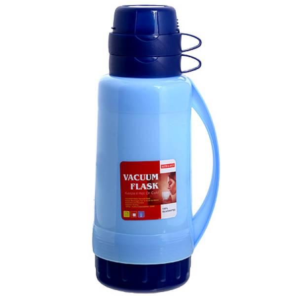 29956-1 Термос 1,8 литра стек. колба Голубой,МВ