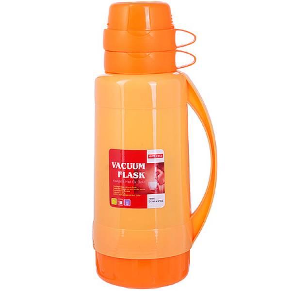 29956 Термос 1,8 литра стек. колба Оранжев,МВ
