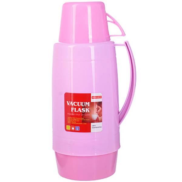 29955 Термос 1,8 литра стек, колба Розовый MAYER&BOCH