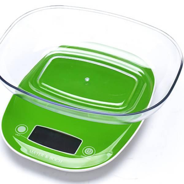 10954-1 Весы кухонные до 5кг + ЗЕЛЁНЫЙ MB (х12)
