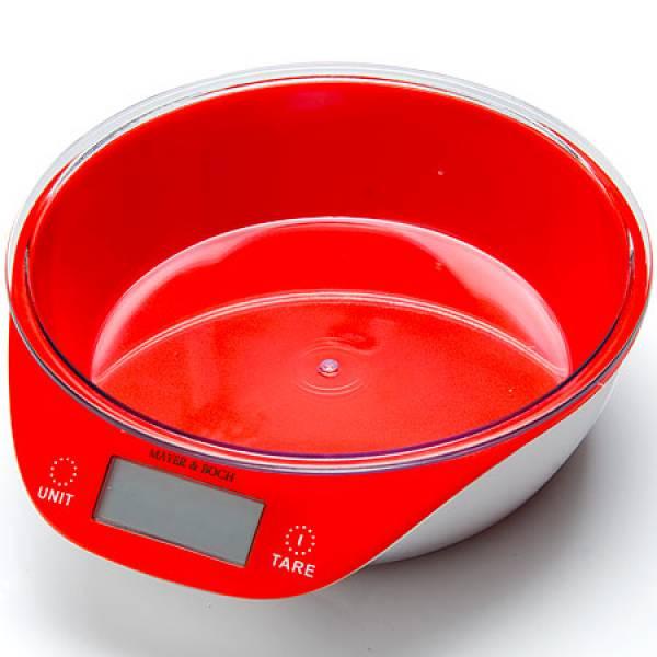 10955-1 Весы кухонные КРАСНЫЕ 5кг MAYER&BOCH