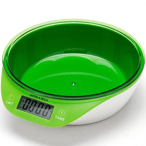 10955 Весы кухонные ЗЕЛЕНЫЕ 5кг MAYER&BOCH