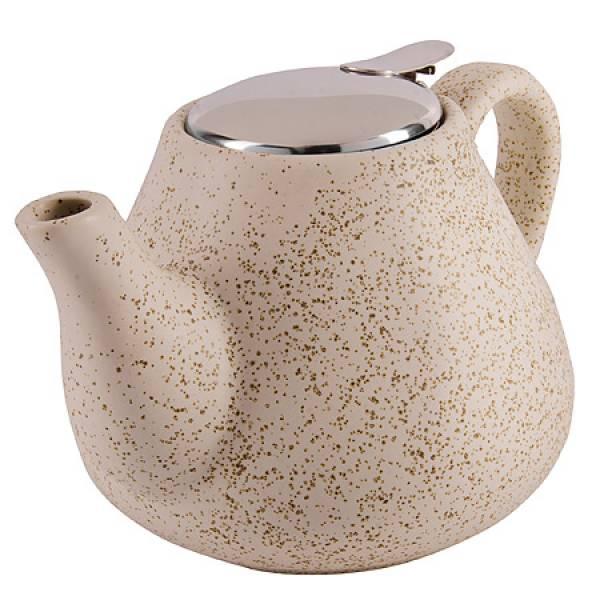 29358 Заварочный чайник 950мл керамика БЕЖЕВЫЙ LORAINE