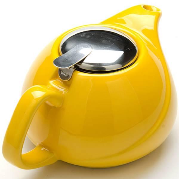 23057-3 Заварочный чайник керамика 750мл ЖЕЛТЫЙ LORAINE