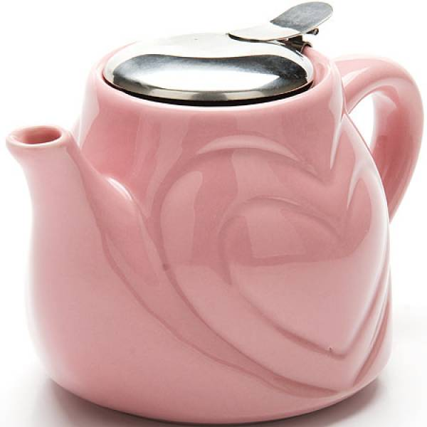 23058-1 Заварочный чайник РОЗОВЫЙ КЕРАМИКА 500 мл LORAINE