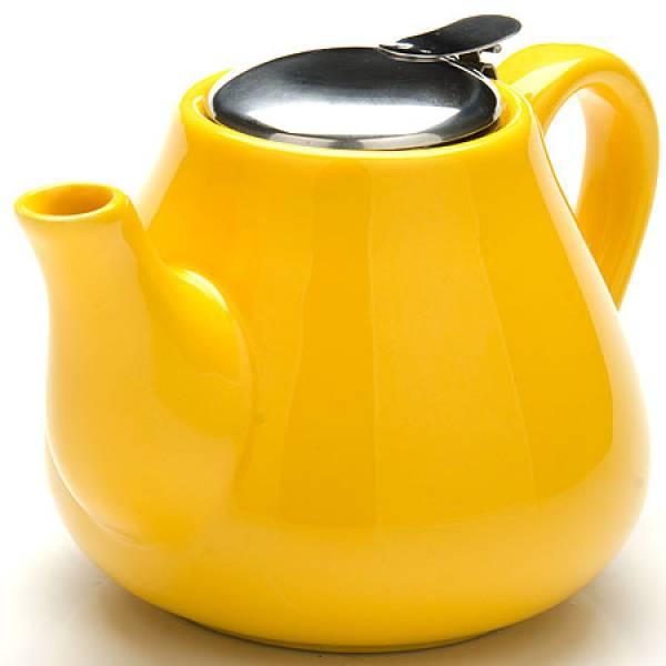 23056-2 Заварочный чайник ЖЕЛТЫЙ 950мл керам LORAINE