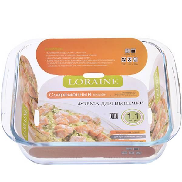 20676 Жаровня 1,1л,(20,7х18,3х4 см)стек LORAINE